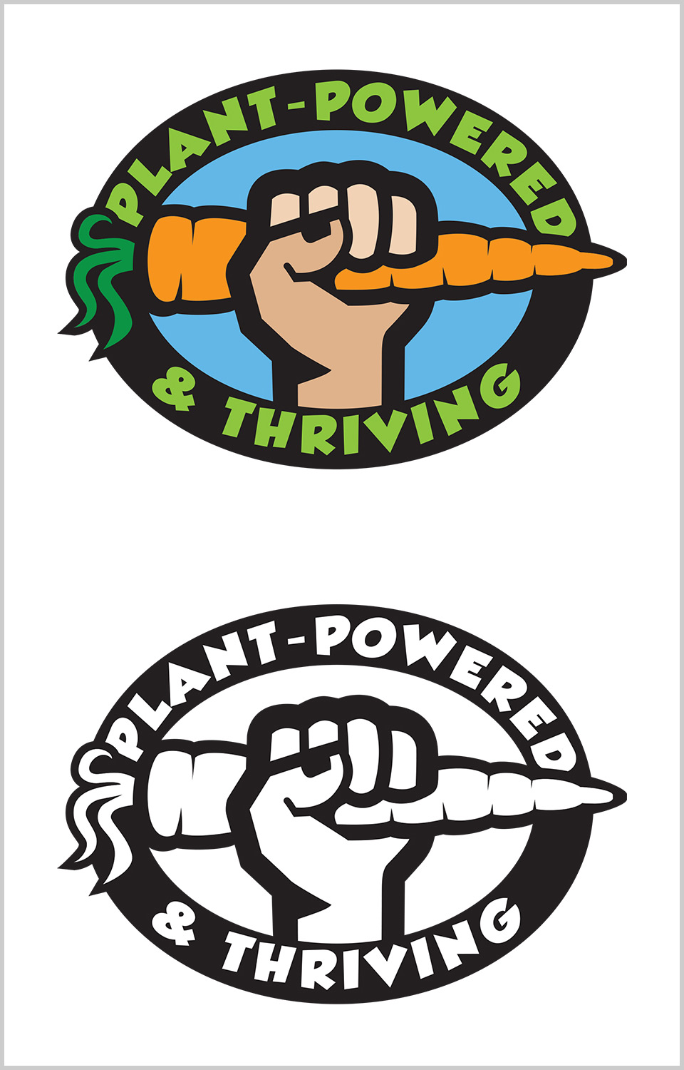 Food Revolution Plant Powered and Thriving Logo