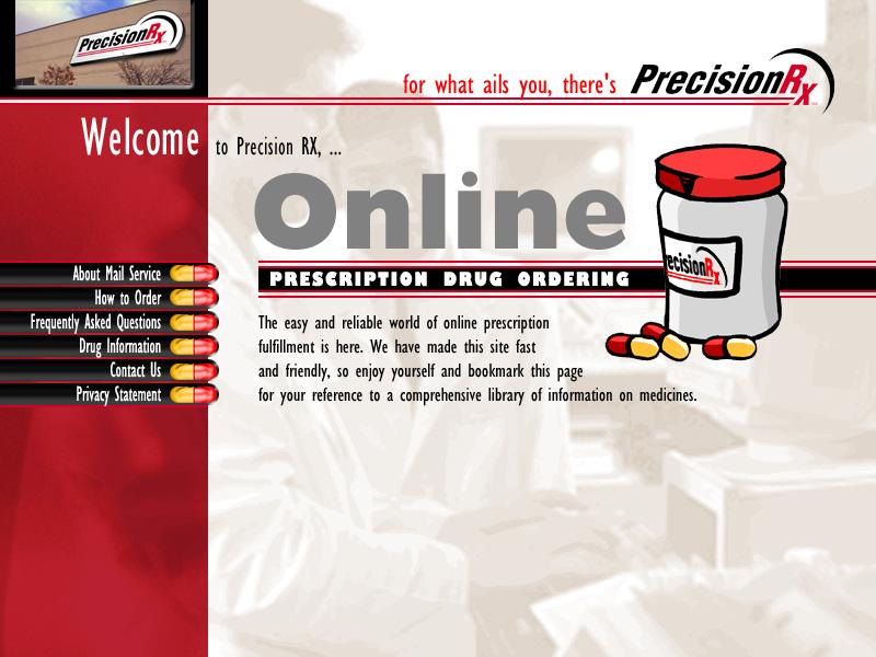 PrecisionRX Web Site Designs