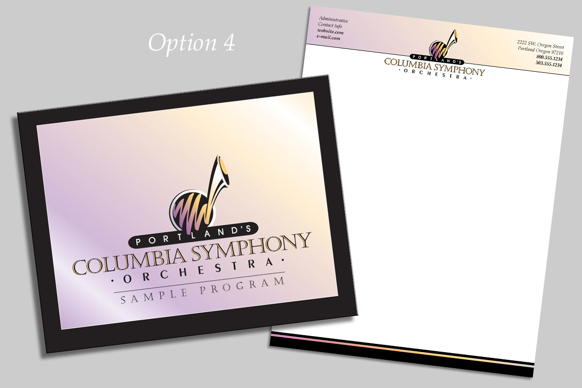 Columbia Symphony Orchestra Program and Insert