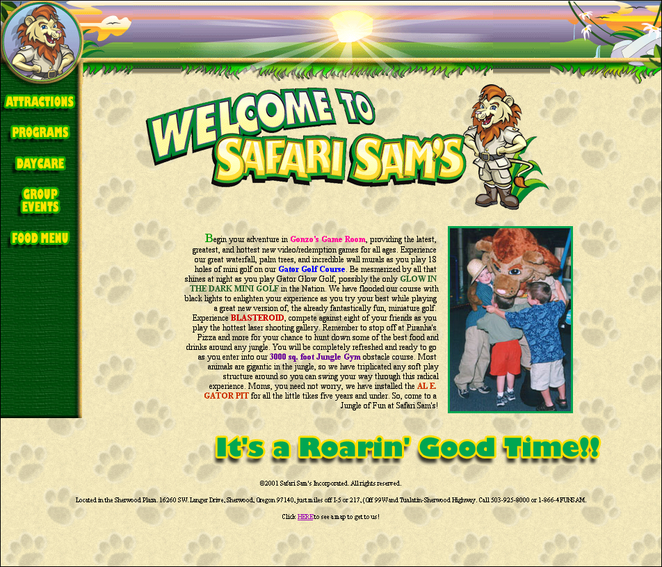 Safari Sam's Web Site