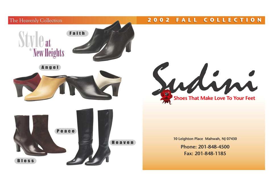 45fce23cdc Sudini Shoes Fall 2002 Catalog – Cliff Schinkel Design