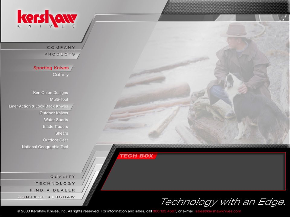 Kershaw Knives Web Site Designs