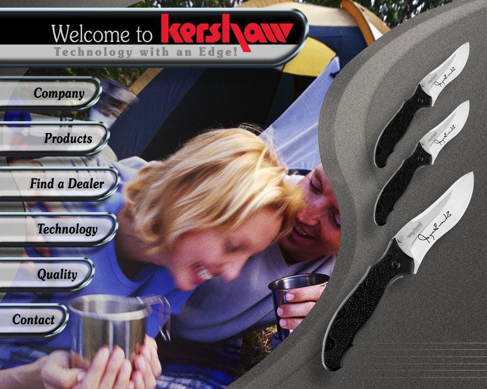 Kershaw Knives Web Site Idea