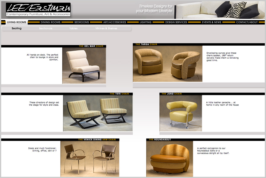 Lee Eastman Furniture Web Site