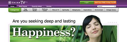 GaiamTV Site Layouts