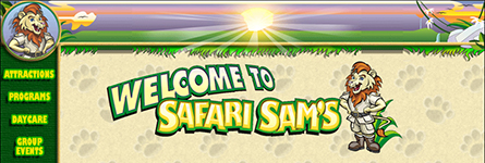 Safari Sam's Web Site Design
