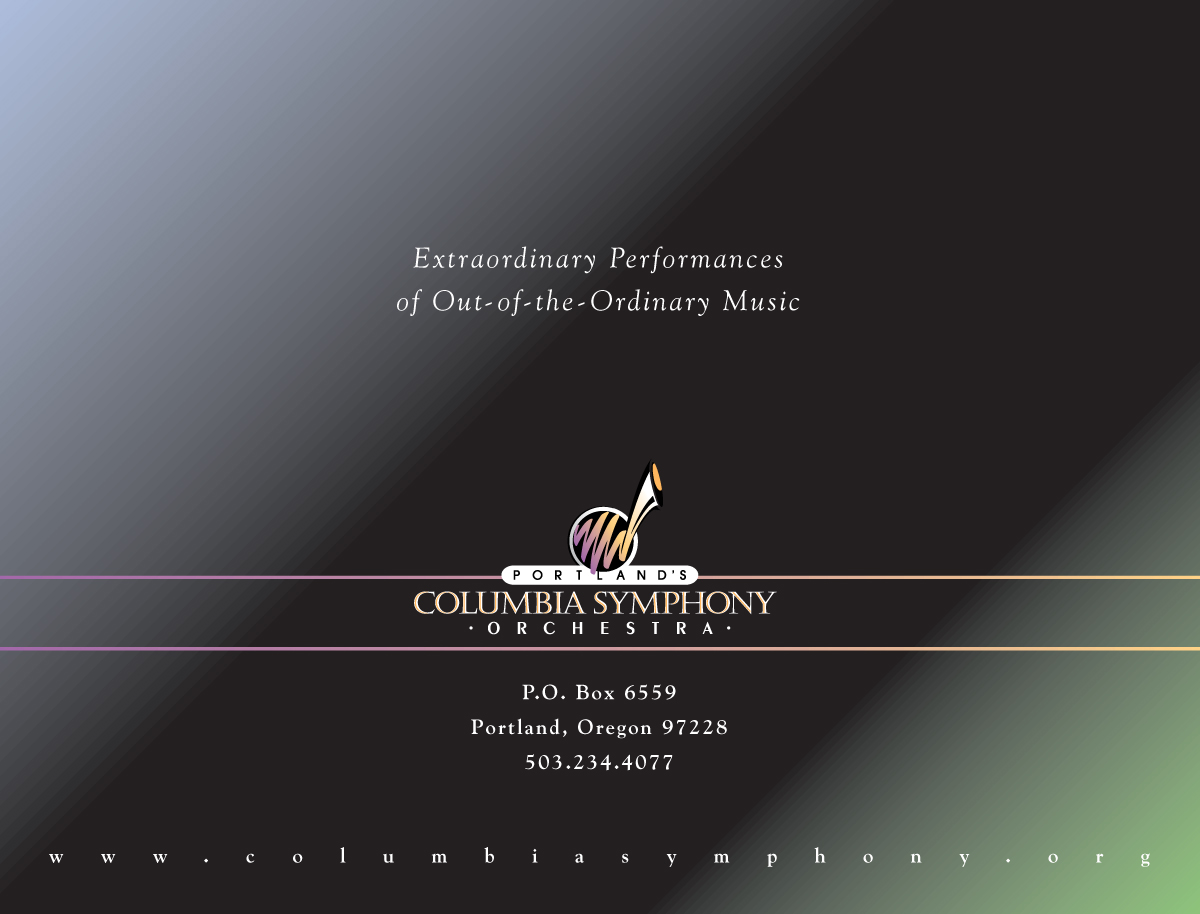 Columbia Symphony Orchestra Mailer