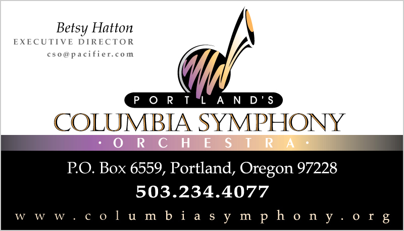 Columbia Symphony Orchestra Stationery