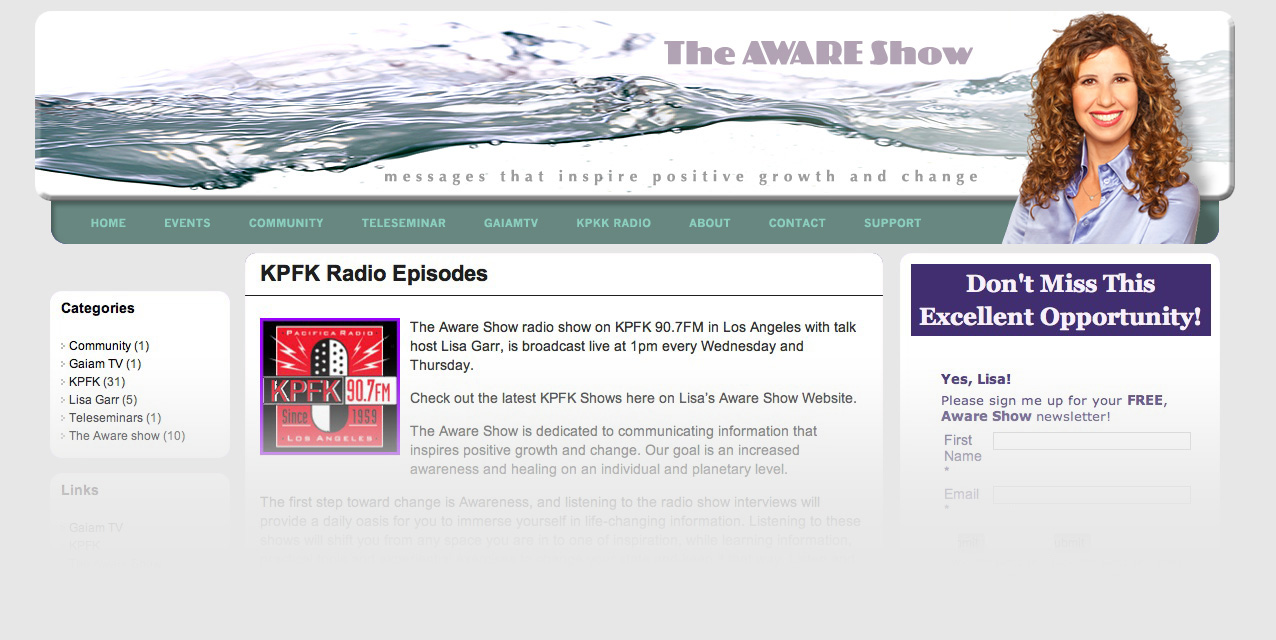 The Aware Show Site Banner