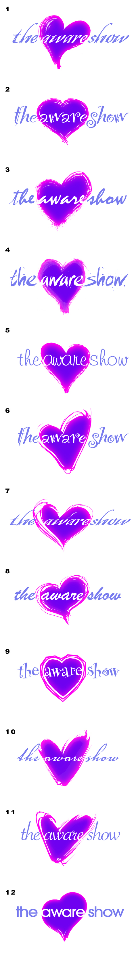 The Aware Show Logo Variations