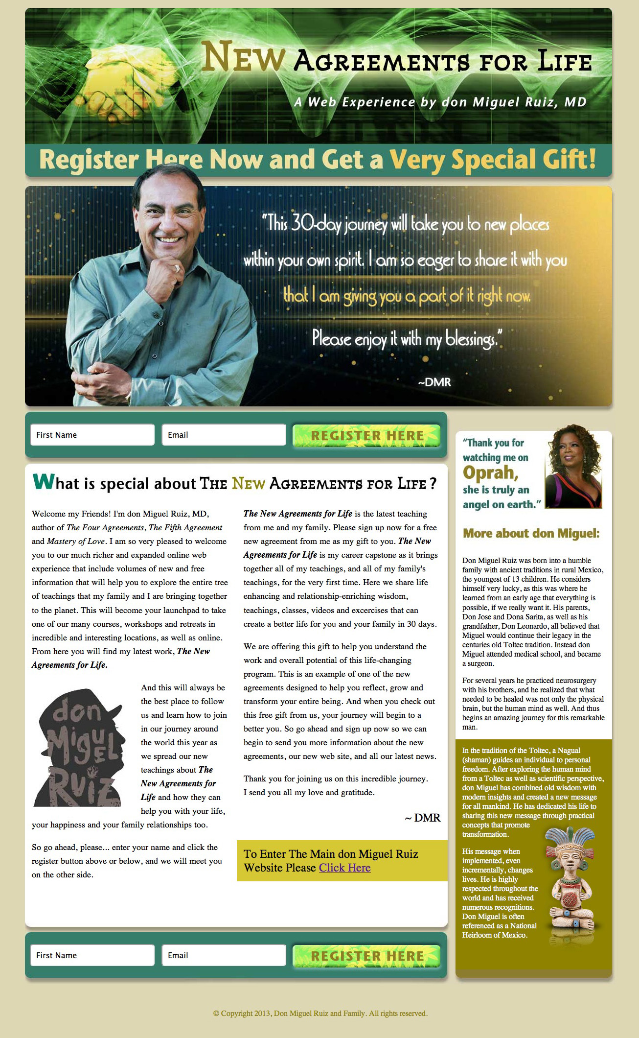 donMiguel Ruiz New Agreements for Life Squeeze Page