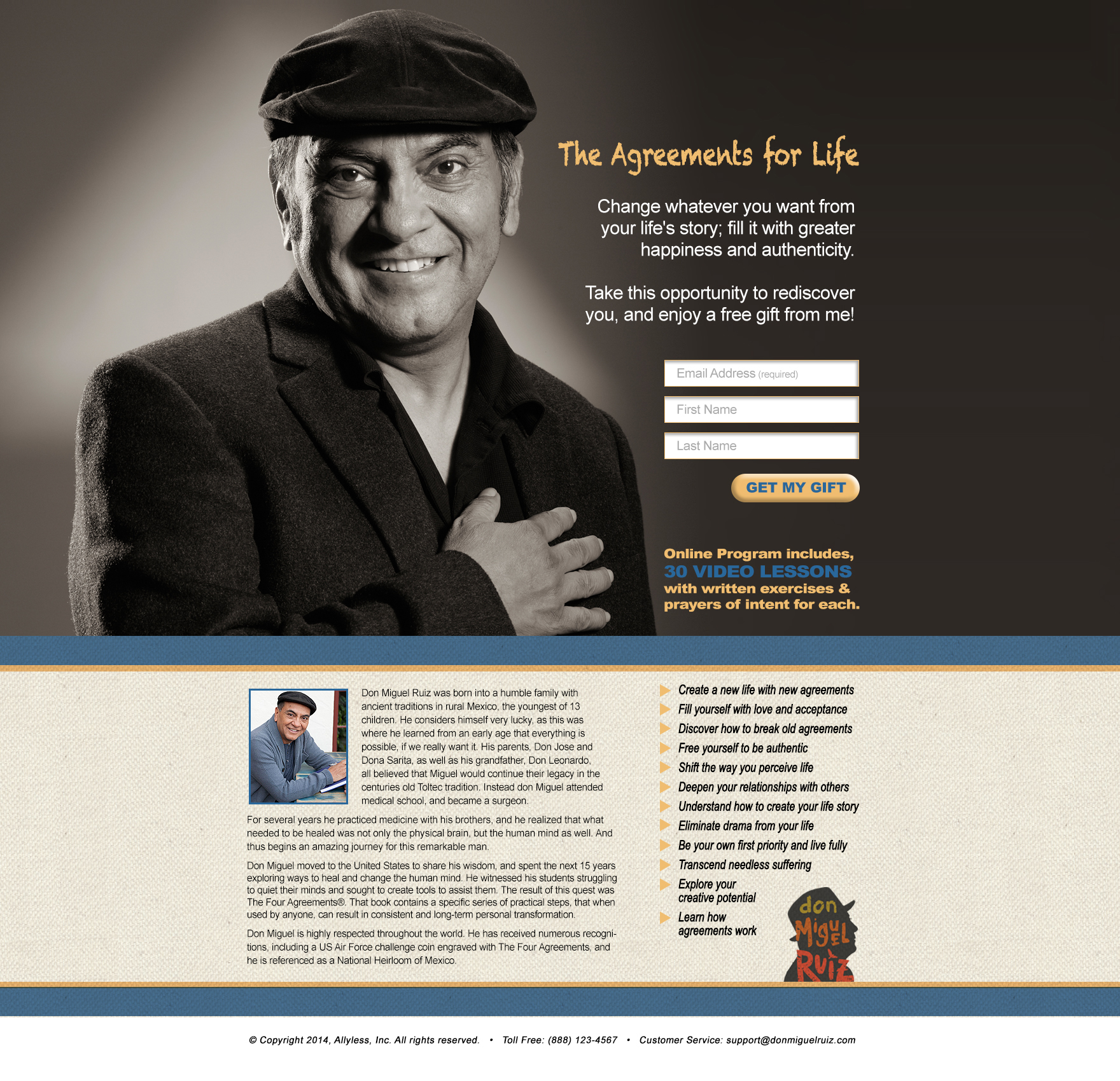 don Miguel Ruiz New Agreements for Life Opt-In