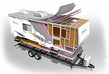 Komfort RV Trailer Construction