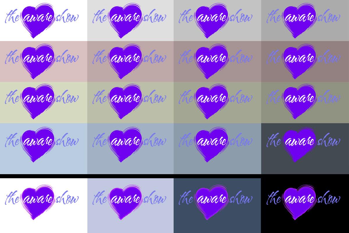 The Aware Show Logo Colors