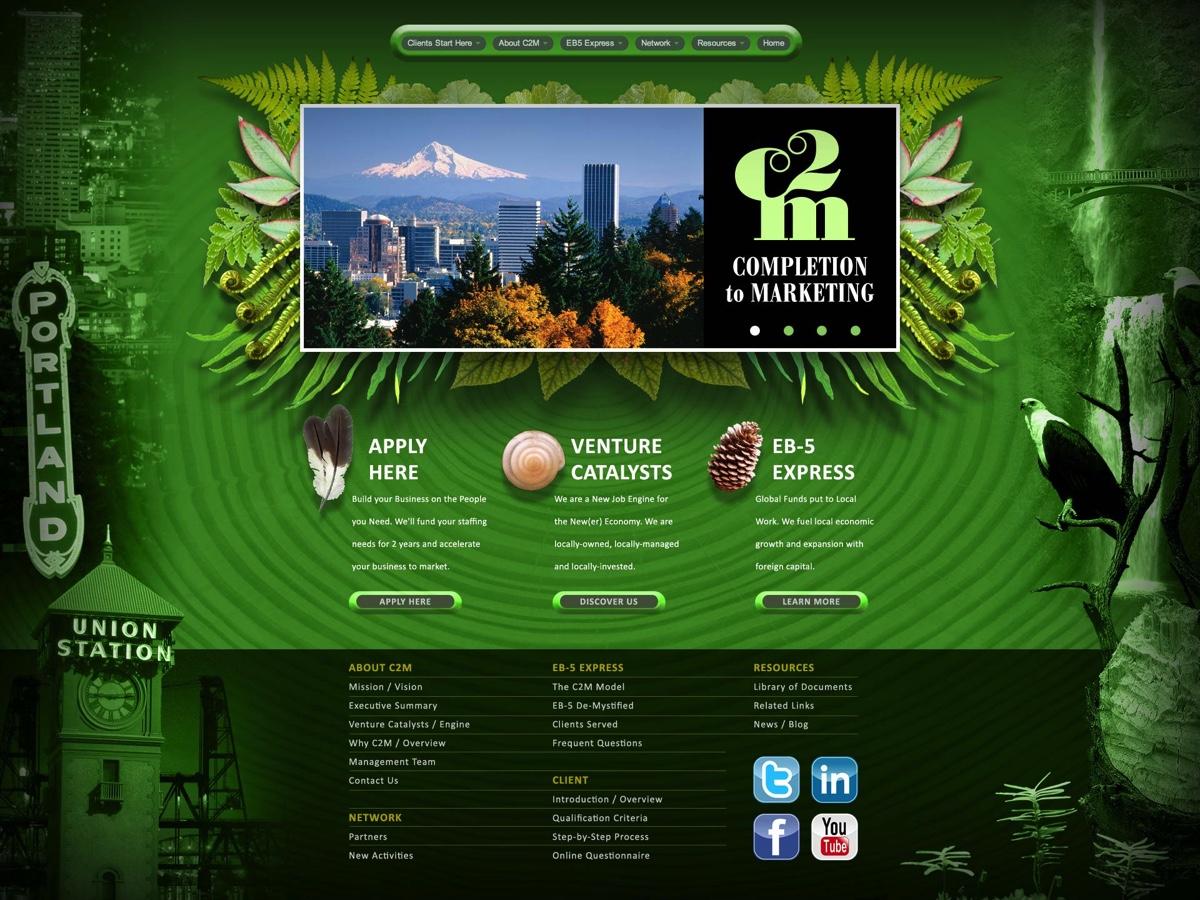C2M Services Web Site Design