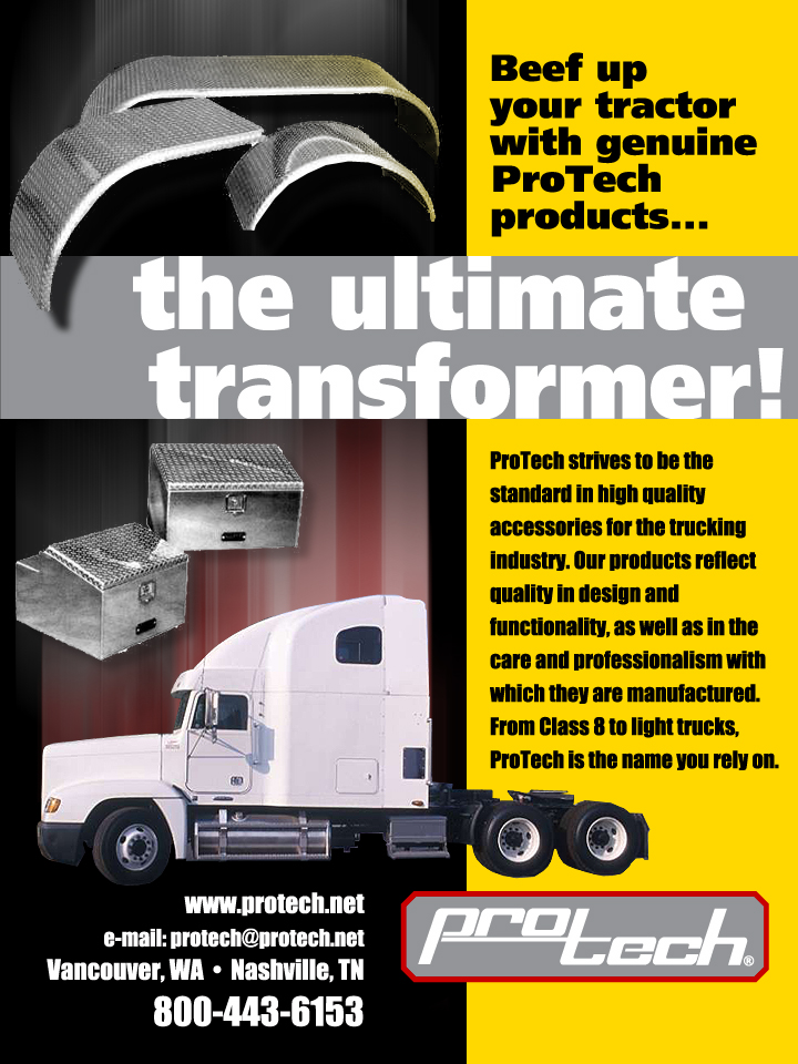 ProTech Trucking Accessories Trade Publication Ads