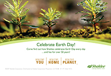 Shaklee Earth Day Invitation Postcards