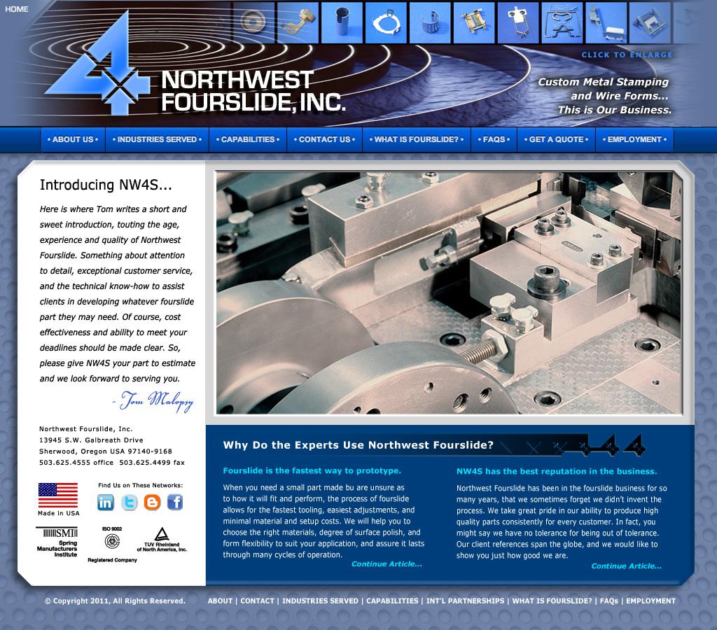 Northwest Fourslide Web Site Design