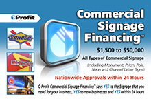 Signage Financing Marketing