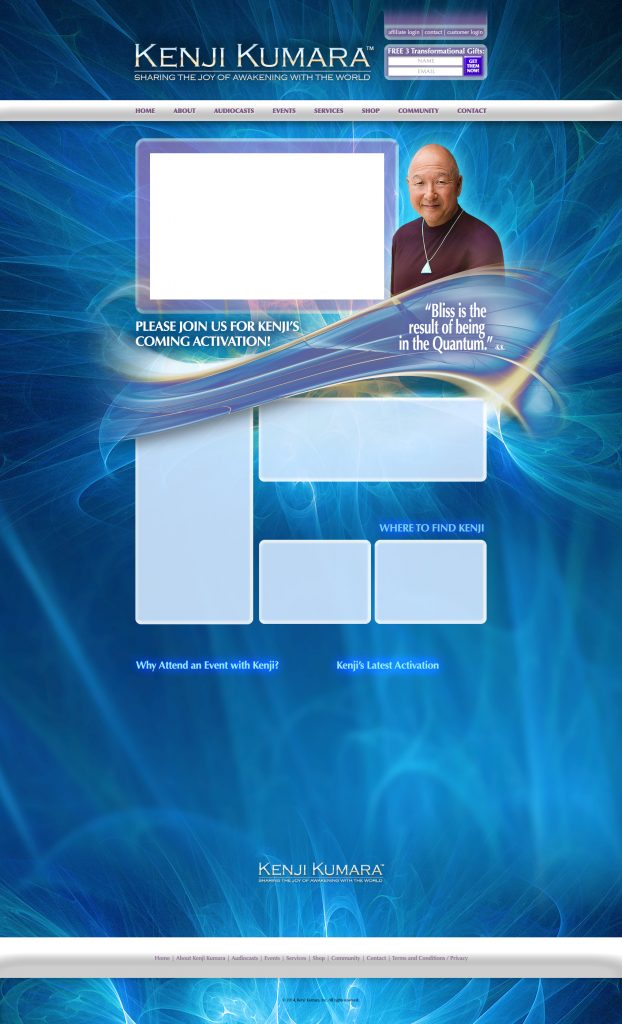 Kenji Kumara Quantum Lightweaving Web Site