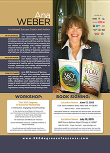 Ana Weber Book Signing Flyer