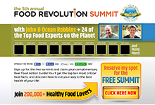 Food Revolution Summit Squeeze Pages