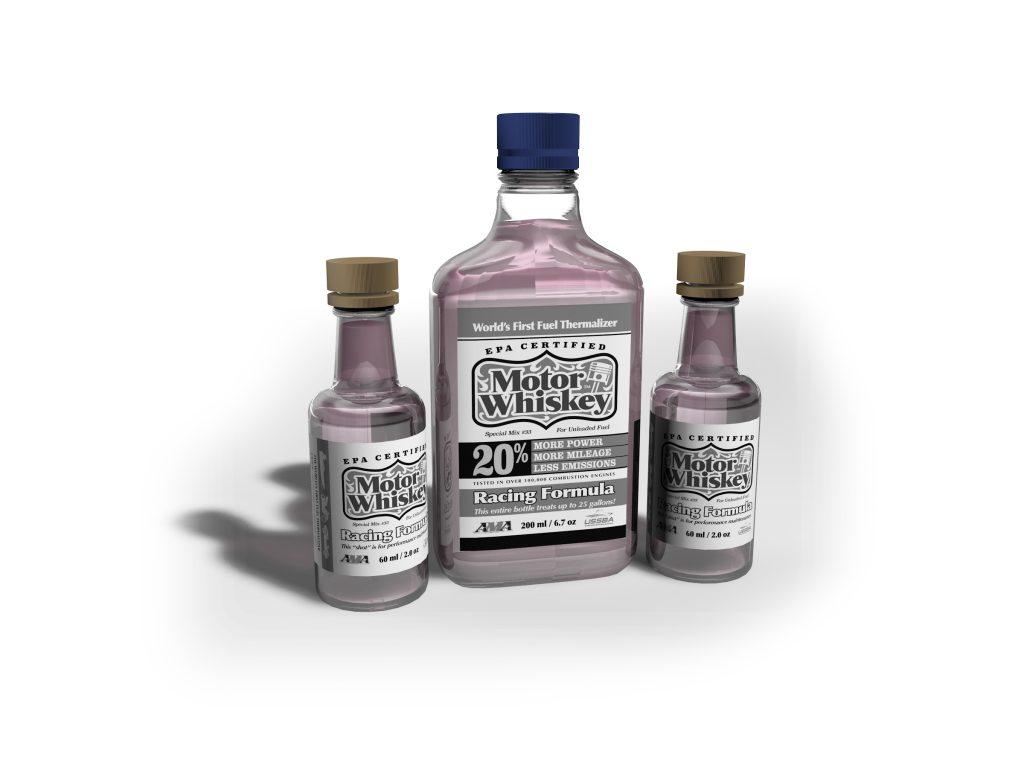 Motor Whiskey Bottles