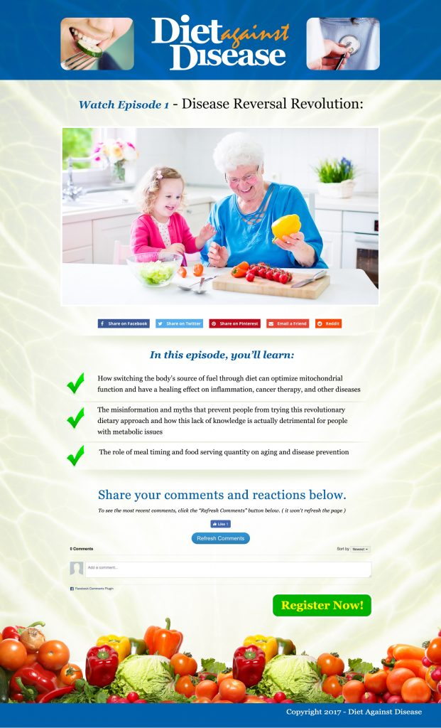 Diet Against Disease Squeeze Pages