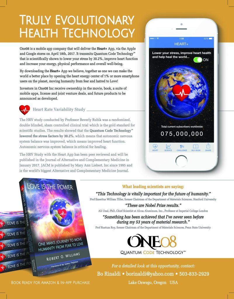One08 Quantum Code Technology One-Sheet