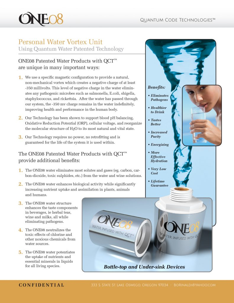 One08 QCT Water One-Sheet
