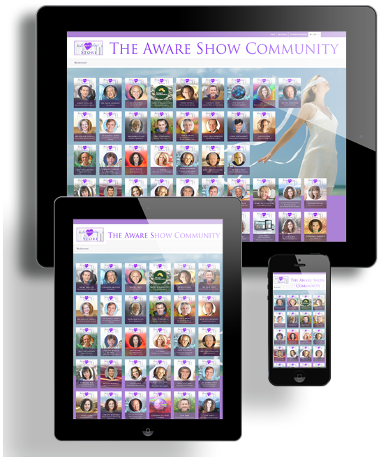 The Aware Show Community Sales Graphic