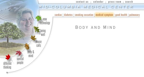 Mid Columbia Medical Center Web Site Design