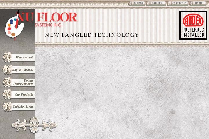 NuFloor Systems Web Site Design