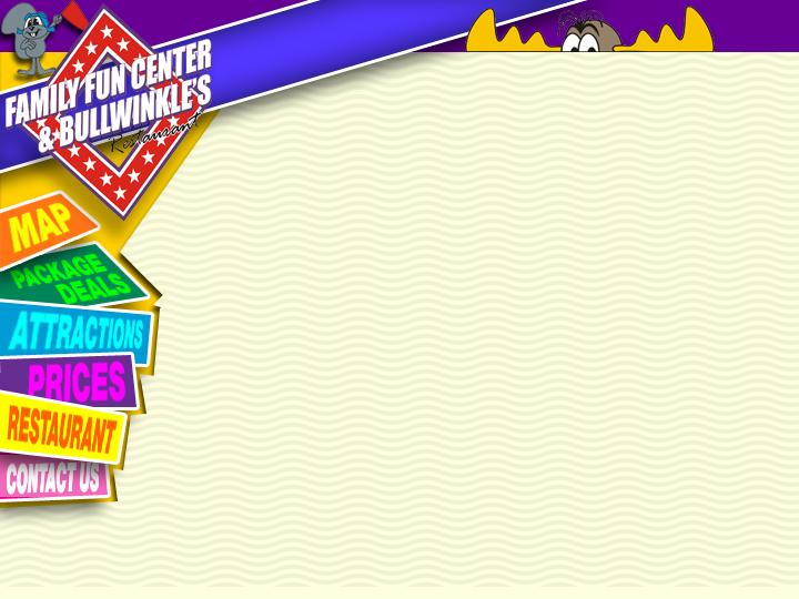 Bullwinkle's Fun Center Web Site Theme