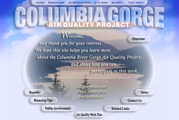 Columbia River Gorge DEQ Web Ideas