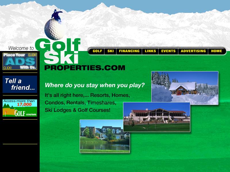 Golfski Properties Web Site Ideas