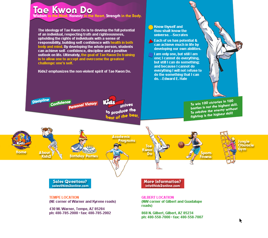 Kids2 Daycare and Tae Kwon Do Fun Centers