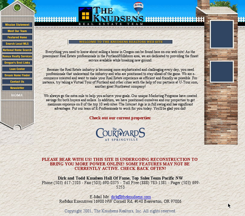 Knudsen Realtors Courtyards Site