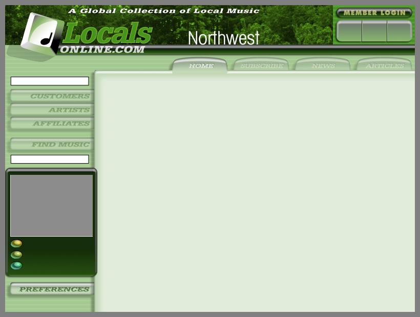Locals Online Radio Web Site Layouts