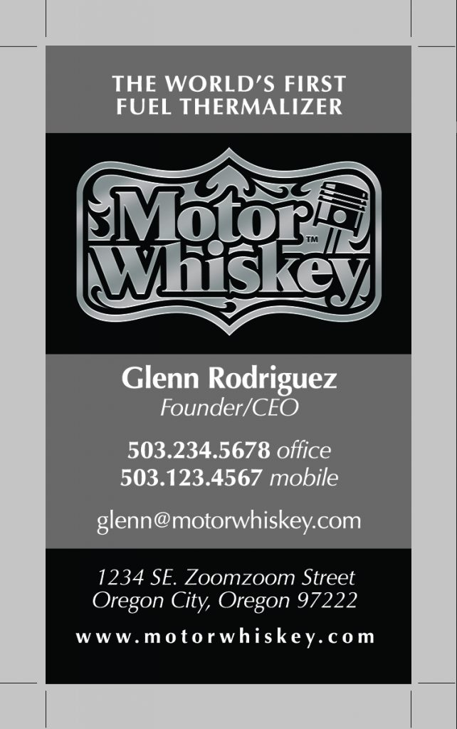 Motor Whiskey Business Cards