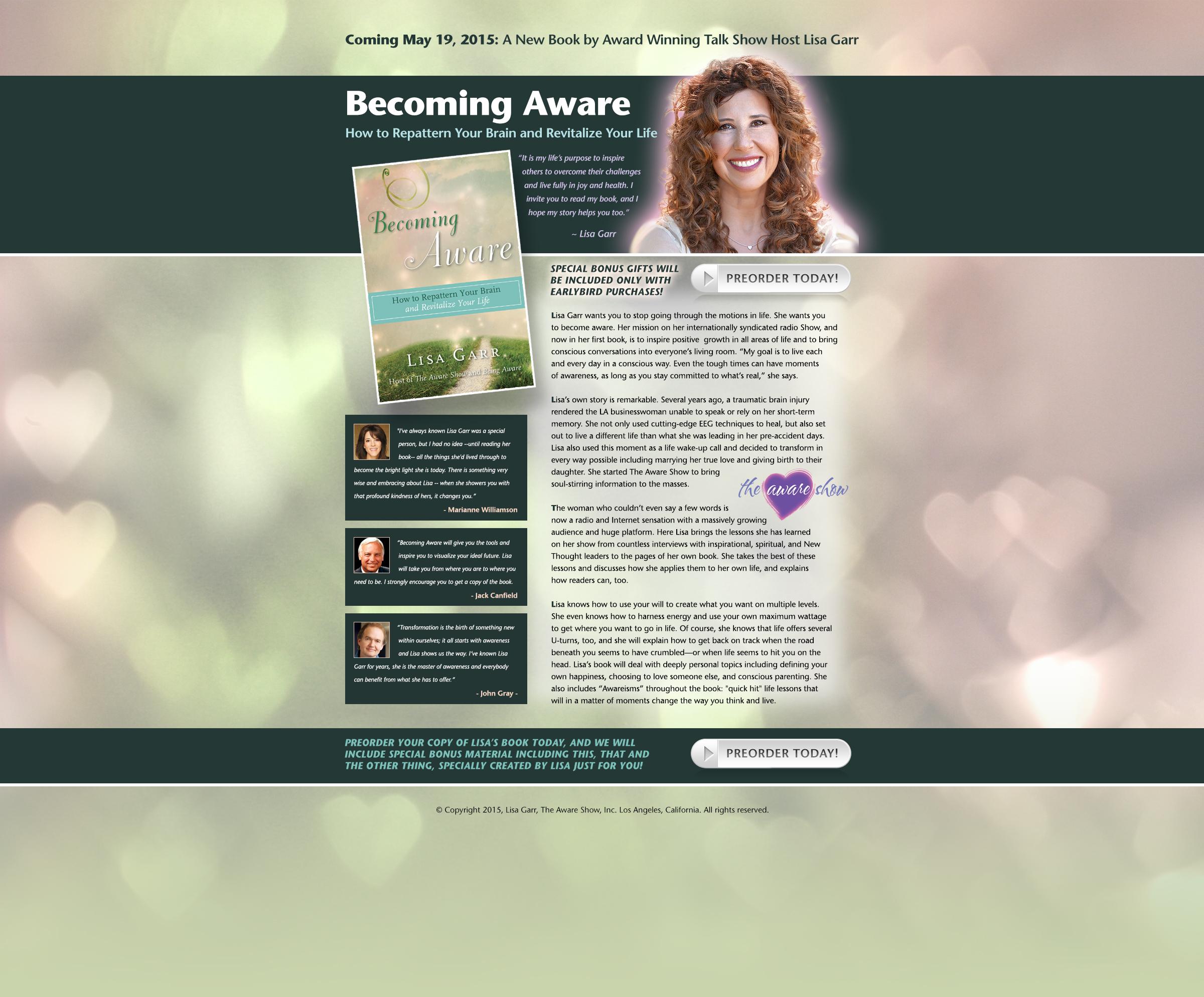 Lisa Garr Becoming Aware Book Landing Page