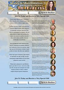 Money and Manifestation Landing Page
