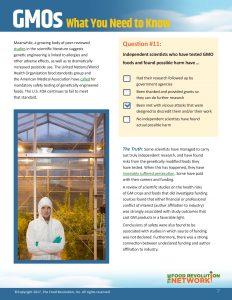 Food Revolution Network GMO Report eBook