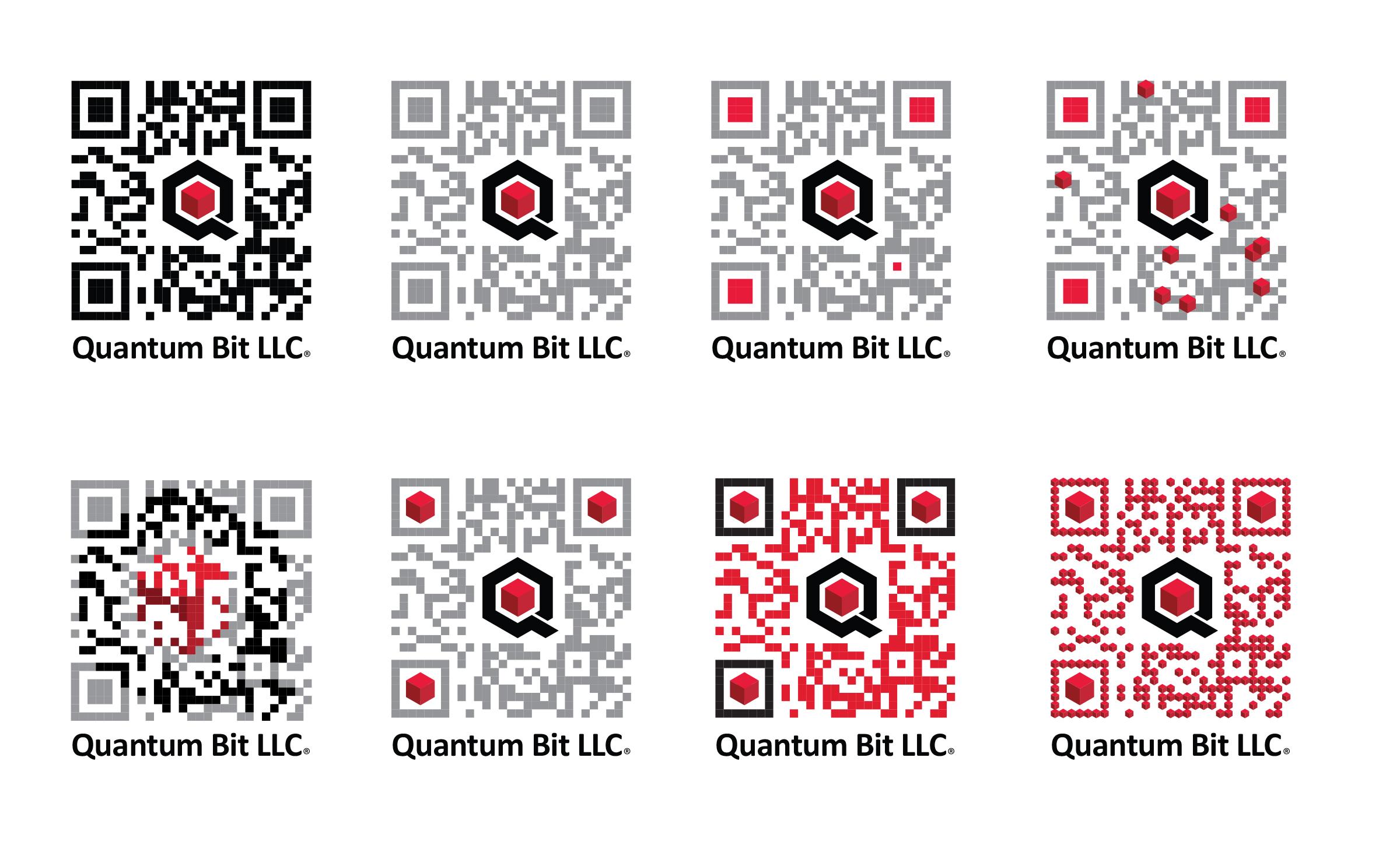 Qbit QR Code Logo Variations