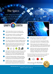 Unify Earth Sales Sheets