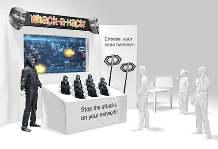 Micron Whack-a-Hack Booth